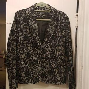 Covington EUC Lace Blazer Sz L